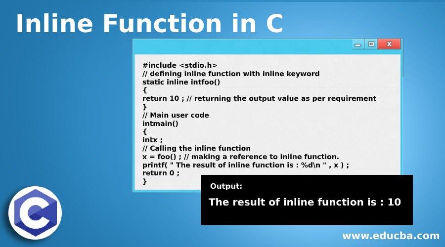 Inline Function in C