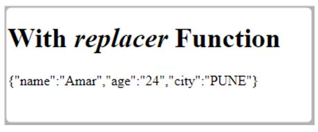 replacer function