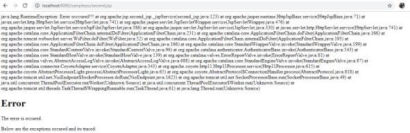 JSP Error Page - 1