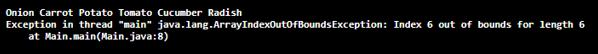 Java ArrayIndexOutOfBoundsException - 1