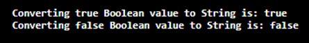 Java Boolean to String op 1