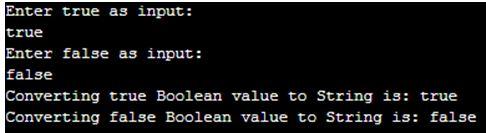 Java Boolean to String op 2