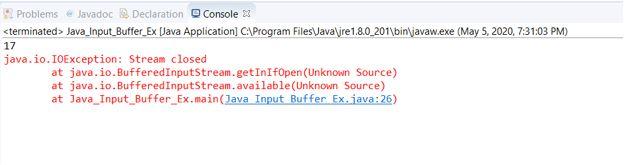 Java BufferedInputStream2