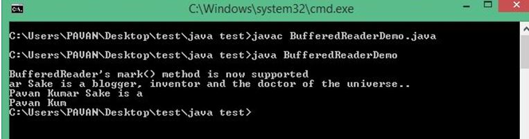 Java BufferedReader 1