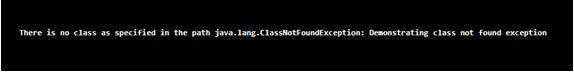 Java ClassNotFoundException output 3