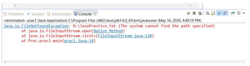Java FileNotFoundException 1