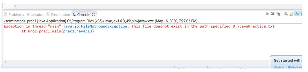 use the constructor with specified error message