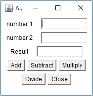 Java GUI Framework output 1