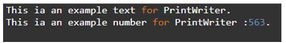 Java PrintWriter 2