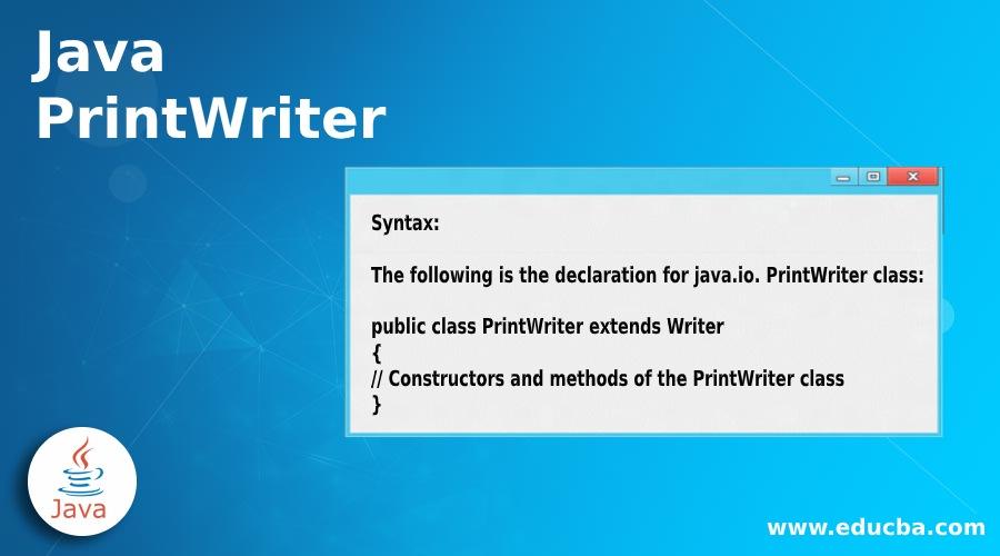 Java PrintWriter