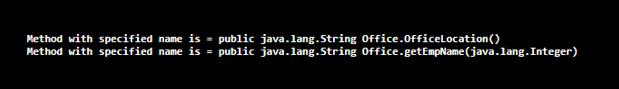 Java getMethod() - 1