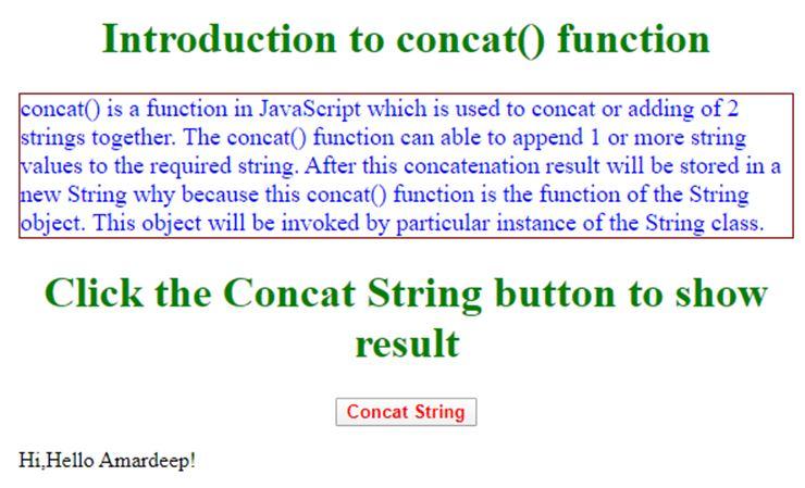 JavaScript concat String 1