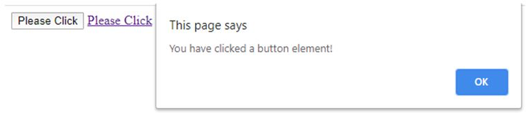 you have clicked button element