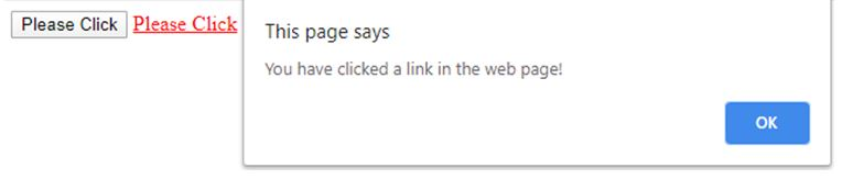 you have clicked a link in the web page