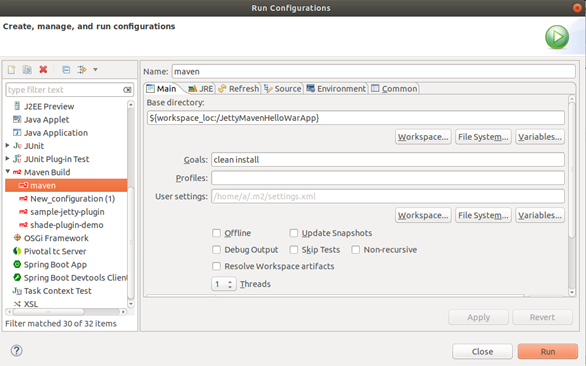 Configurations Option Example 9