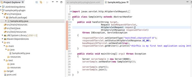 Jetty Maven plugin Example 3