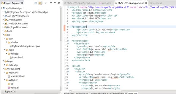 Jetty Maven plugin Example 8