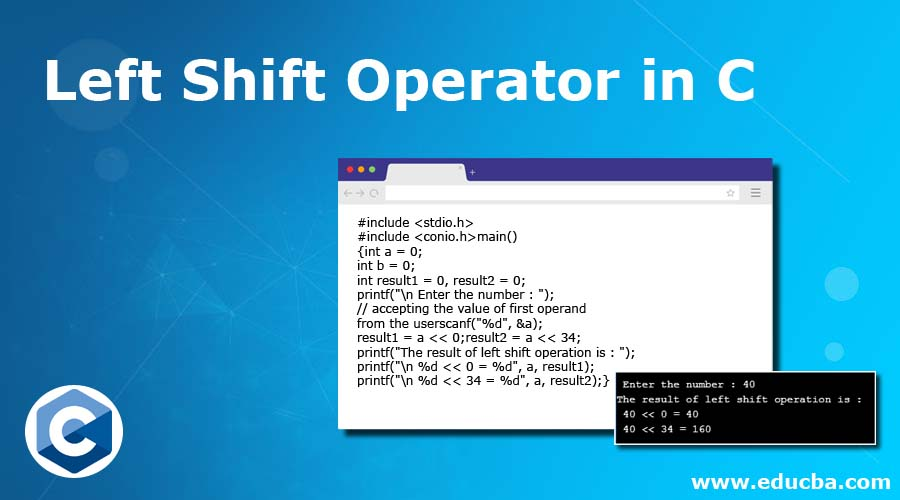 Left Shift Operator in C