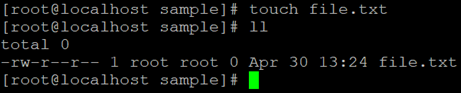 Linux Touch Command Example 2