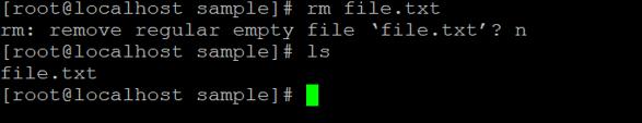 Linux rm Command - 2