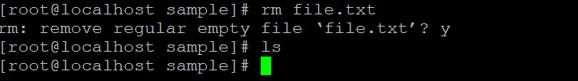 Linux rm Command - 3
