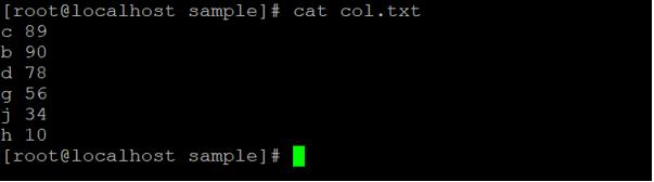 Linux sort Command output 6