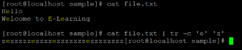Linux tr Command Example 2