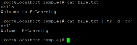 Linux tr Command Example 3