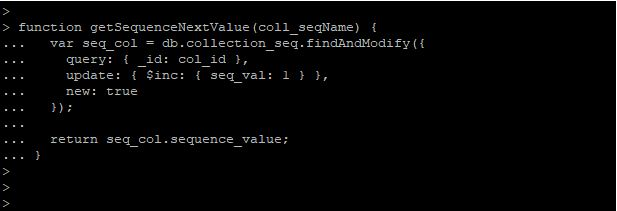 get Sequence Next Value