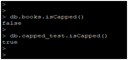 MongoDB Capped Collections Example 1