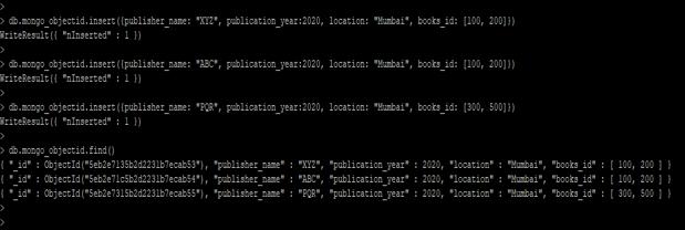 MongoDB ObjectId() - 1