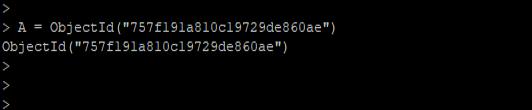 MongoDB ObjectId() - 3
