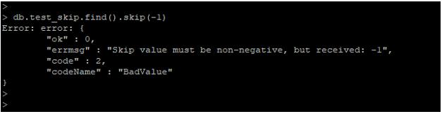 MongoDB Skip() output 1
