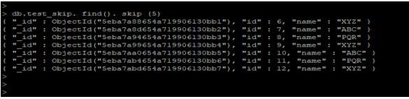 MongoDB Skip() output 2