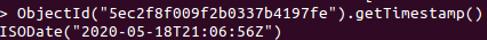 MongoDB Timestamp - 1