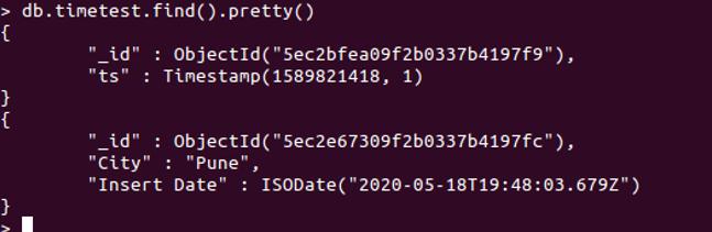 MongoDB Timestamp - 3