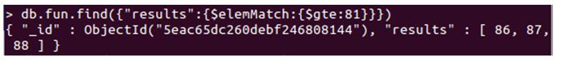 MongoDB $elemMatch 2