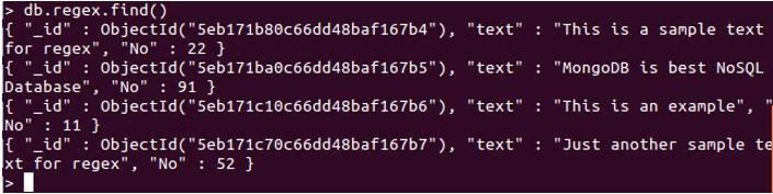 MongoDB $regex-1.1