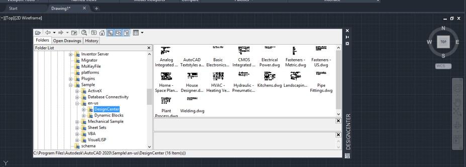 Design center folder