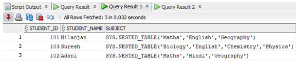 Oracle CARDINALITY Example 2