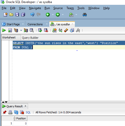 Oracle INSTR() - 5