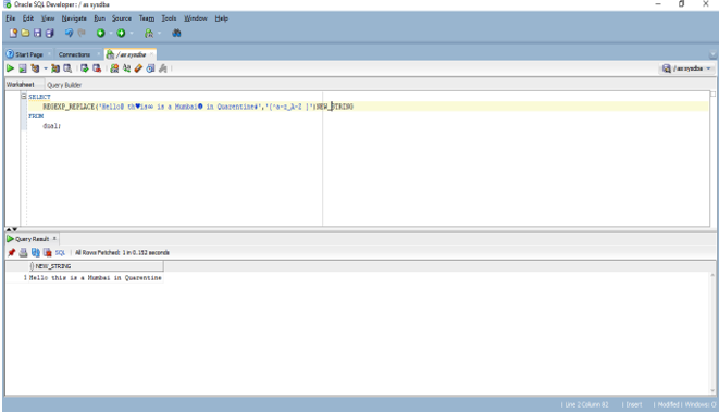 Oracle REGEXP_REPLACE -
