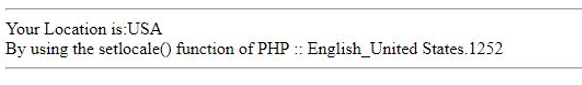 PHP setlocale()-1.1