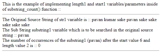 Start1 and Length1 Parameters Example 3