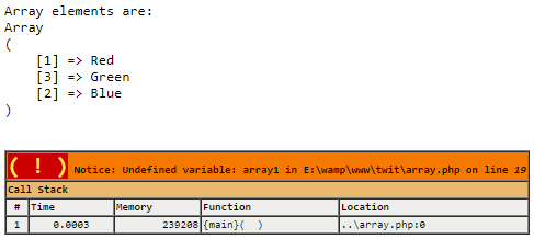 PHP unset Array Example 1