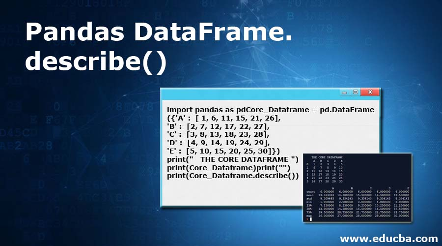 Pandas DataFrame.describe()