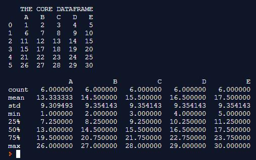 CORE DATAFRAME Example 3