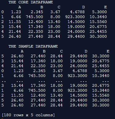 simple data frame