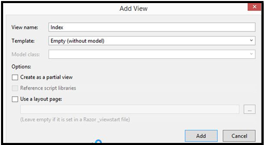 Partial View in MVC Example 5