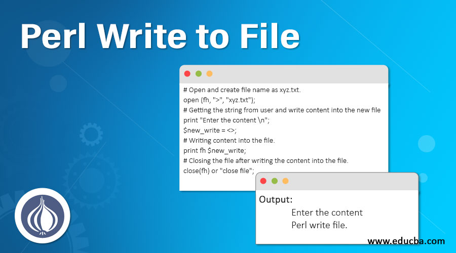 write a file using perl
